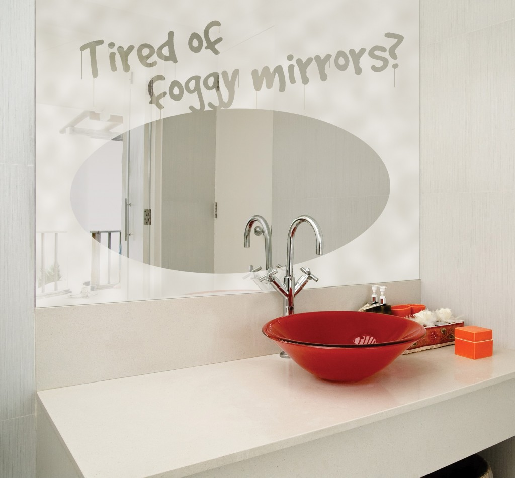 Prevent Bathroom Mirror From Getting Fogging Up