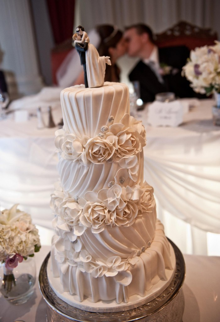 Specific Wedding Cake With Cake Topper
