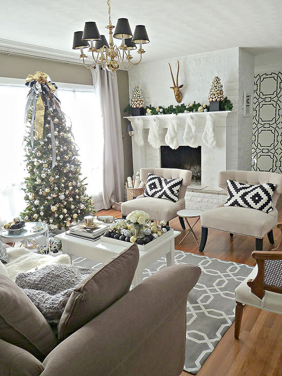 christmas living room decorating ideas how ornament my eden. Black Bedroom Furniture Sets. Home Design Ideas