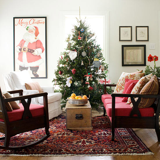 After The Christmas Tree Part, Next You Can Consider About The Furniture In Living  Room. Scented Candles, Delicate Lamps, Mini Christmas Plants And Candy ... Part 86