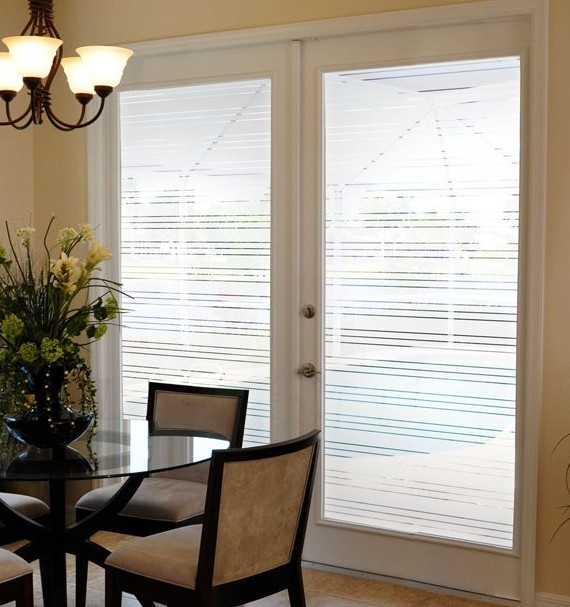 Front Door Side Window Film: Decorate Home View With Window Film
