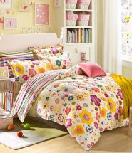 rural flowers printed bedding sets