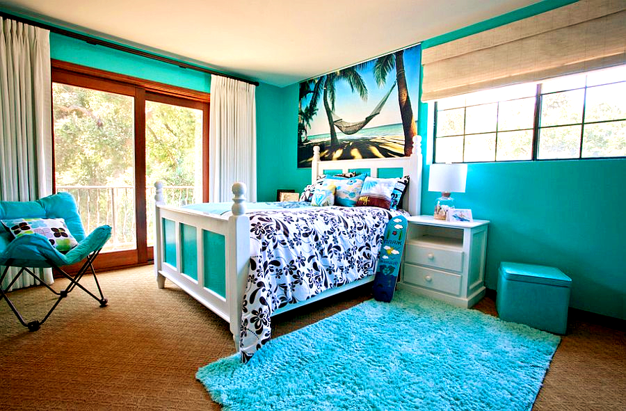 designing your kids bedroom in tropical style would meet your need