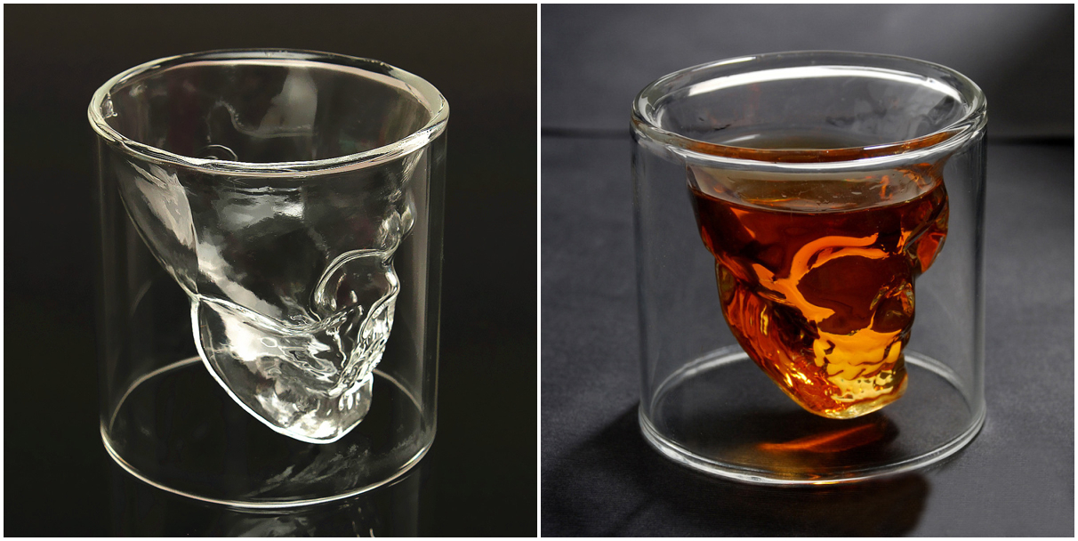 75ml double wall skull cup