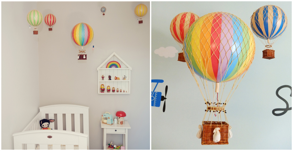 Whimsical And Colorful Hot Air Balloon Decor