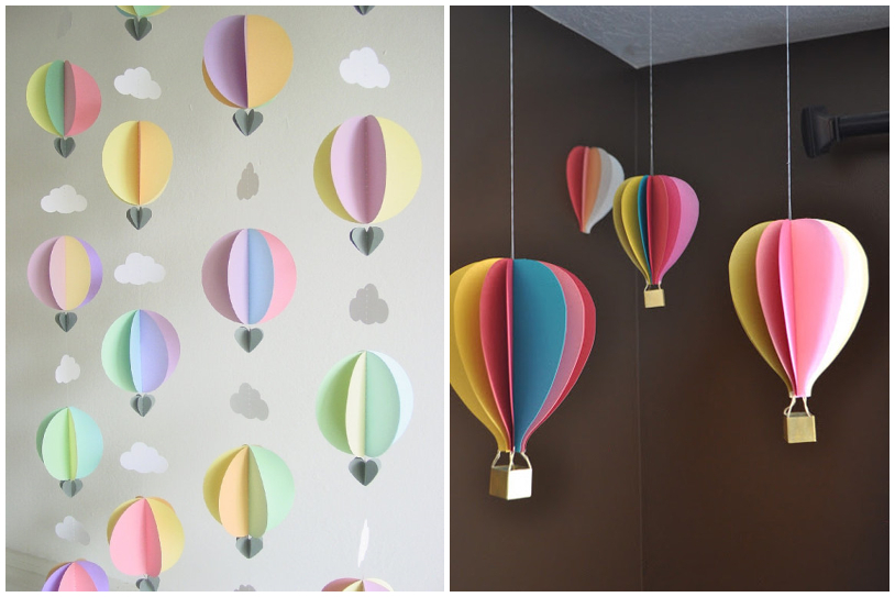 Those Decorations Which Are Smaller These May Meet Your Need By Using The Papers In Different Colors You Could Sketch The Shape Of Hot Air Balloon