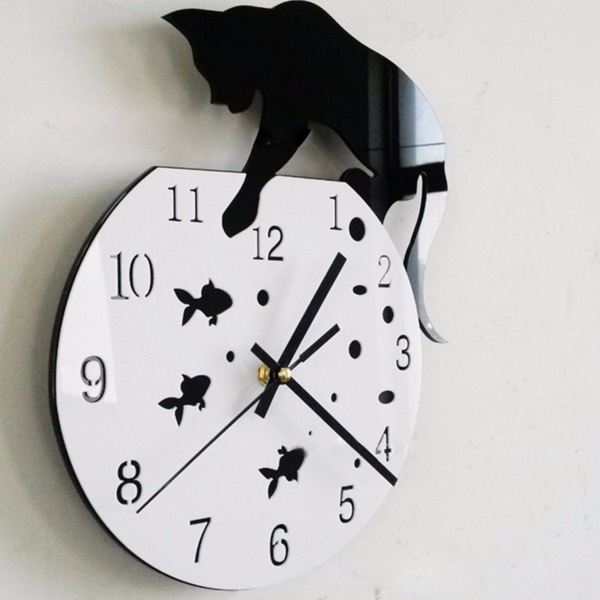 You need a clock at home how ornament my eden cat fish hanging clock amipublicfo Gallery