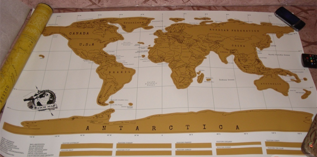World Scratch Wall Map
