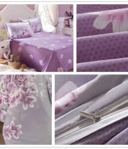 purple flower bedding