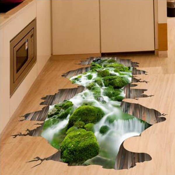 3d floor art that certainly blows your mind how ornament for Sticker mural 3d