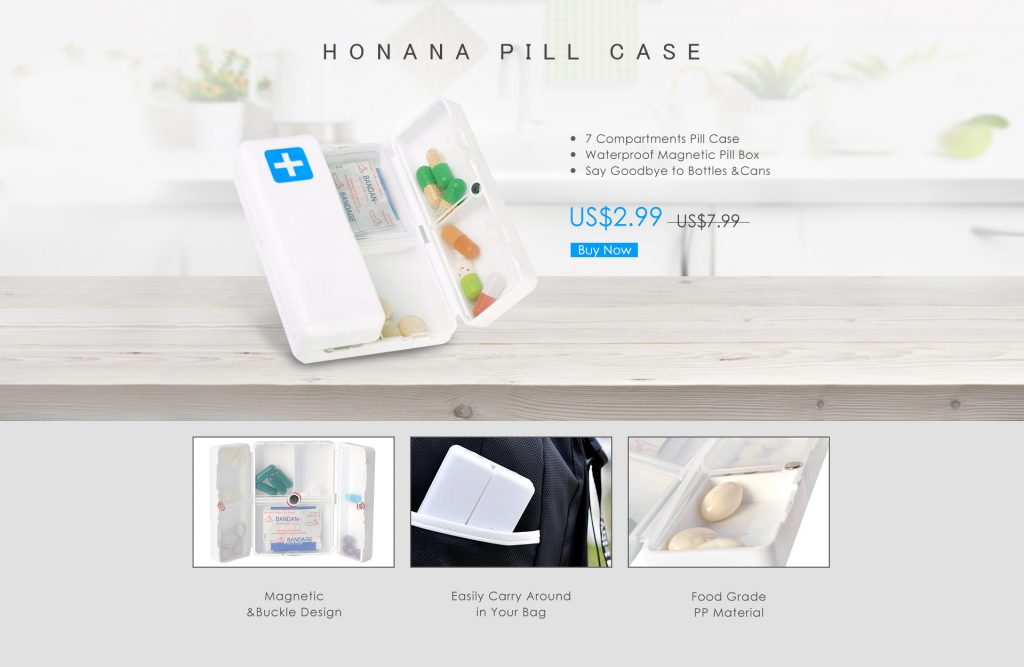 Honana Pill Case
