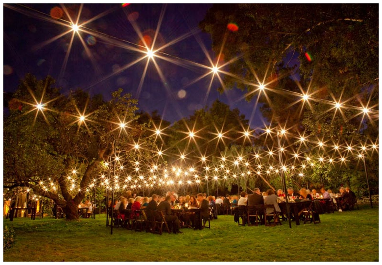 How To Decorate A Garden For A Party With Lights?